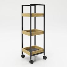 """PLAYBOY Rolltisch """"NANCY"""" mit drei Ablagen Servierwagen 28,2x88,5 cm"""