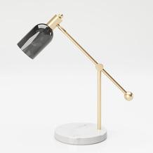 """PLAYBOY Tischlampe """"AMBER"""", Schreibtischlampe, Schirm aus Glas"""