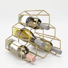 """PLAYBOY Weinregal """"GLORIA Weinständer für 5 Flaschen, Farbe gold"""