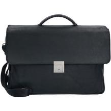 Plevier 30er Serie Aktentasche II Leder 3 Fächer 41 cm Laptopfach schwarz
