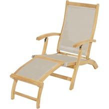 Ploß Deckchair Richmond, abnehmbares Fußteil, taupe Sonnenliege