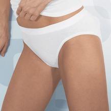 Pompadour Bikini-Slip Poesie weiß 36