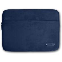 PORT Designs Milano Sleeve - Microfaser- / Neoprenhülle mit ZubehörfTach für 13/14 Zoll Notebooks, blau