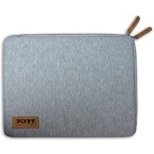"""PORT Designs TORINO SLEEVE - universelle Schutzhülle aus Bauwolljersey für 13.3/14"""" Notebooks, grau"""
