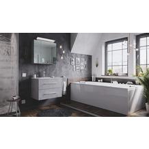 Posseik Badmöbel-Set Homeline 70 (2-teilig) beton inkl. Spiegelschrank mit Design LED-Lampe