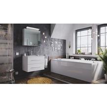 Posseik Badmöbel-Set Homeline 70 (2-teilig) weiß hochglanz inkl. Spiegelschrank mit Design LED-Lampe