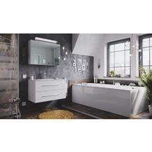 Posseik Badmöbel-Set Homeline 90 (2-teilig) weiß hochglanz inkl. Spiegelschrank mit Design LED-Lampe