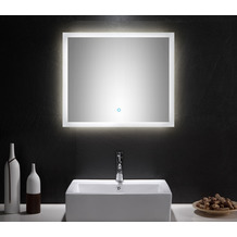 Posseik LED Spiegel 70x60 cm mit Touch Bedienung