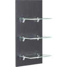 Posseik Panel VIVA mit 3 Glasablagen anthrazit