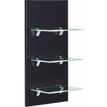 Posseik Panel VIVA mit 3 Glasablagen schwarz