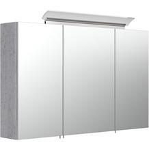 Posseik Spiegelschrank 100 inklusive LED-Acrylglaslampe beton