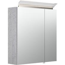 Posseik Spiegelschrank 60 inklusive LED-Acrylglaslampe beton