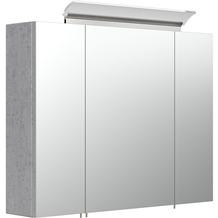 Posseik Spiegelschrank 80 inklusive LED-Acrylglaslampe beton EEK: F