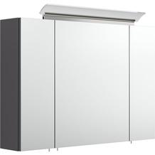 Posseik Spiegelschrank 90 inklusive LED-Acrylglaslampe anthrazit seidenglanz