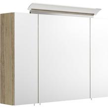 Posseik Spiegelschrank 90 inklusive LED-Acrylglaslampe eiche hell