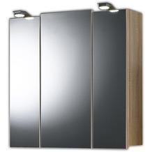 Posseik Spiegelschrank multi-use sonoma-eiche 68 x 71 x 20 2 Lampen