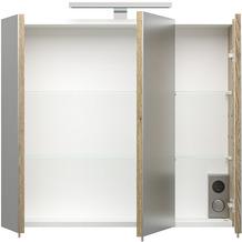 Posseik Spiegelschrank multi-use sonoma-eiche 68 x 71 x 20 1 Lampe