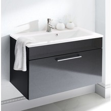 Posseik Waschplatz Heron anthrazit - weißes Becken