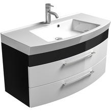 Posseik Waschplatz Rima anthrazit-weiss, groß