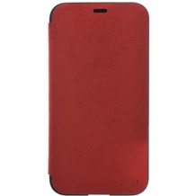Power Support Ultrasuede Flip Case Apple iPhone X rot