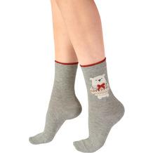 Pretty Polly Christmas Polar Bear Socks Grey/Mix OS
