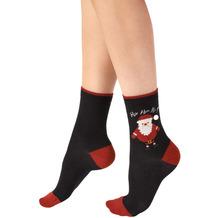 Pretty Polly Christmas Santa Socks Black/Mix OS