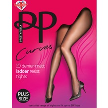 Pretty Polly Curves 10D Matt Run Resist Tights Black XXL