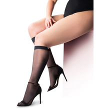 Pretty Polly Curves 15D Sheer Cooling Knee Hights - 2 Paar Black OS