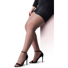 Pretty Polly Curves 15D Sheer Cooling Tights Black XL