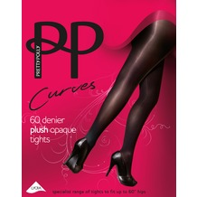 Pretty Polly Curves 60D Plush Opaque Tights Black XXL