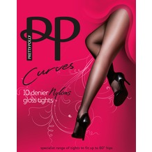Pretty Polly Curves Nylons Tights Black XXL
