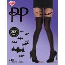 Pretty Polly Halloween Bat Tights Black OS