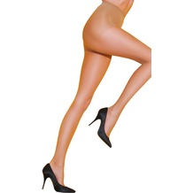 Pretty Polly Legs on the Go 10D Ladder Resist Compression Tights Nude SM