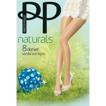 Pretty Polly Naturals 8D Sandal Toe Tights Nude XL