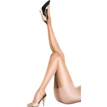 Pretty Polly Nylons 10D Gloss Backseam Tights Black - SM