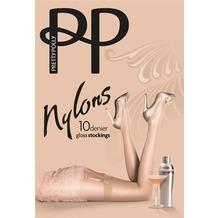 Pretty Polly Nylons 10D Gloss Stockings Black - ML