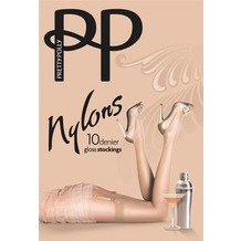 Pretty Polly Nylons 10D Gloss Stockings Sherry - ML