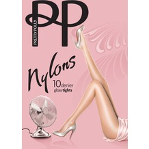 Pretty Polly Nylons 10D Gloss Tights Navy S