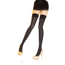 Pretty Polly Premium Fashion 80D Opaque Hold Up Black Black One Size