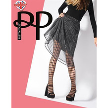 Pretty Polly Premium Fashion Oblong Net Tights Black OS