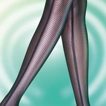 Pretty Polly Premium Fashion Panelled Mesh Tights Black OS