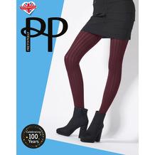 Pretty Polly Premium Fashion Soft Rib Tights Rustic/Red OS