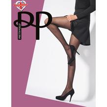 Pretty Polly Premium Fashion Spiral Dot Tight Black OS