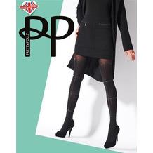 Pretty Polly Premium Fashion Strappy Print Tights Black OS