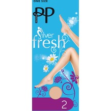 Pretty Polly Silver Fresh Support Knee Highs - 2 Paar Barely Black One Size