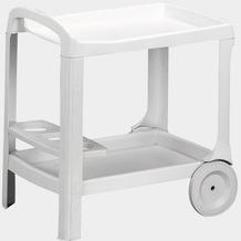 PROGARDEN Servierwagen Astro, Vollkunststoffgestell weiß, L 53 x B 74 x H 73 cm