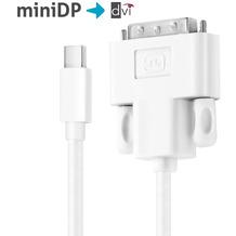 PureLink Kabel MiniDP/DVI - iSerie 1,50m weiß