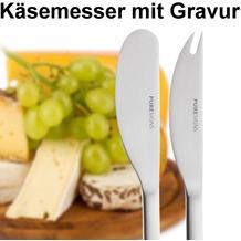 PURESIGNS Käsemesser 2tlg. MIT GRAVUR (z.B. Namen)