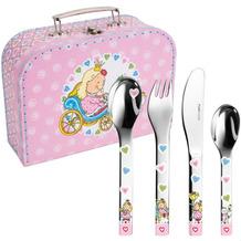 PURESIGNS Kinderbesteck Prinzessin Nelia 5tlg. mit Kinderkoffer MIT GRAVUR (z.B. Namen)