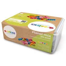 Q-Bricks Box Floral Mischfarben 300 Teile